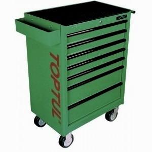 TOPTUL - Инструментална количка 7 чекмеджета, 5 оборудвани