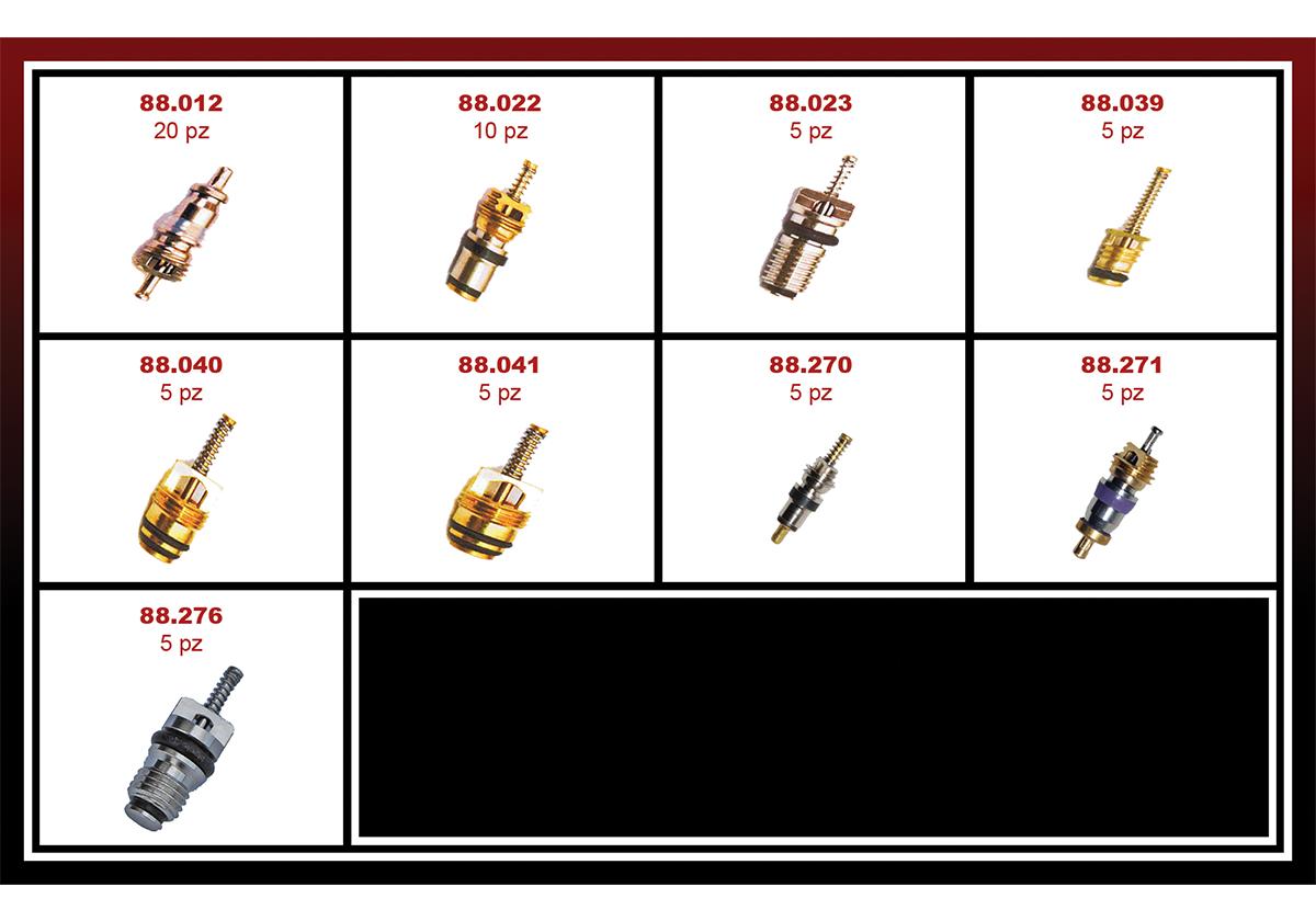 88.203/9 - Комплект иглички и сервизни клапани (9 вида)