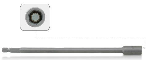 TOPTUL - Aдаптер за накрайници, удължен 8  x 200 mm