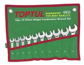 TOPTUL - Kомплект звездогаечни ключове, къси 10 бр.