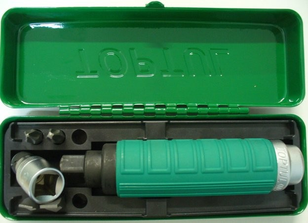 TOPTUL - Комплект ударна отверка 1/2, с накрайници 6 бр.