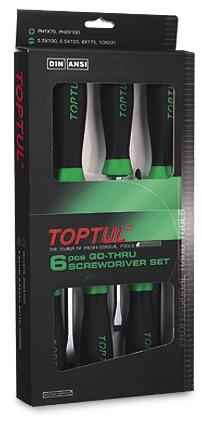 TOPTUL - Комплект отверки ударни, 5 бр.