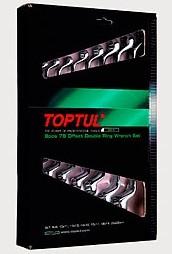 TOPTUL - Комплект звездогаечни ключове тип лула, матирани 7 бр.