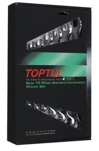 TOPTUL - Комплект звездогаечни ключове, матирани, 8 бр.