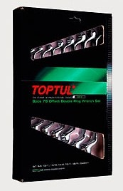 TOPTUL - Комплект лули 75°, 8 бр.