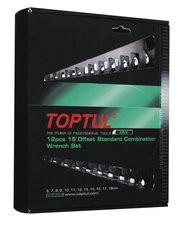 TOPTUL - Комплект звездогаечни ключове, матирани 12 бр.