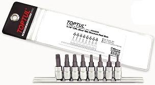 TOPTUL - Комплект накрайници на вложки,  8 бр.