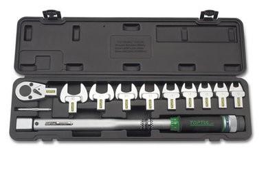 TOPTUL - Комплект динамометричен ключ със сменяеми глави 40-210 Nm.