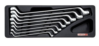 TOPTUL - Комплект звездогаечни ключове - тип лула, матирани, 8 бр.