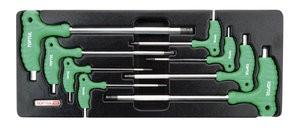 TOPTUL - Комплект  ключове - шестостен, двупосочни, Г- образни, 8 бр.