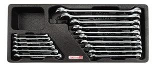 TOPTUL - Комплект звездогаечни ключове, усилени, матирани, 16 бр.