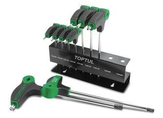 TOPTUL - Комплект торкс, 9 броя