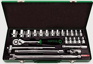 TOPTUL - Комплект инструменти 1/2, 24 бр.