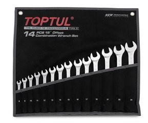 TOPTUL - Комплект звездогаечни ключове, матирани 8-24 mm