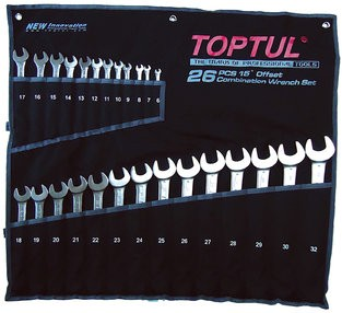 TOPTUL - Комплект звездогаечни ключове 26 части, от 6-32 mm