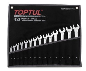 TOPTUL - Комплект звездогаечни ключове, стандартни, 8-32 mm