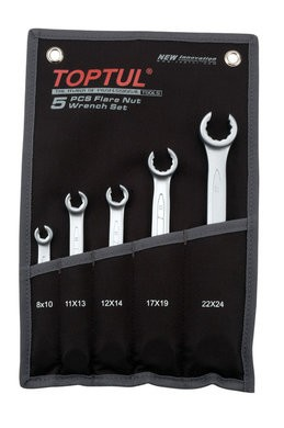 TOPTUL - Гаечни ключове прерязани 8-24 mm, 5 бр.