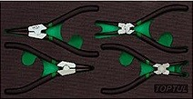 TOPTUL - Комплект зегер клещи, 4 броя