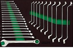TOPTUL - Комплект звездогаечни ключове, усилени и лули, 28 бр.