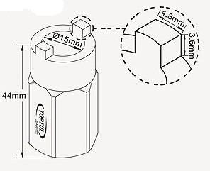 TOPTUL - Вложка за амортисьори 44 mm(L)