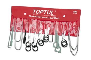 TOPTUL - Комплект монтаж / демонтаж на радио - касетофони