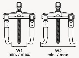 TOPTUL - Скоби за вадене на зъбни колела