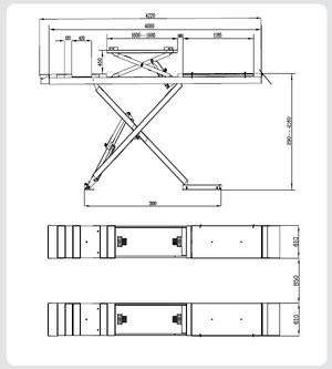 Ножичен подемник за реглаж на геометрия