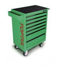 TOPTUL - Инструментална количка 7 чекмеджета - зелена