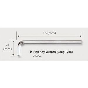 TOPTUL - Г - образен шестостен 7 mm, 41 mm x 149 mm