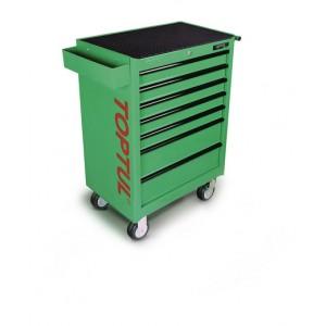 TOPTUL - Инструментална количка 7 чекмеджета, 6 оборудвани