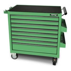 TOPTUL - Инструментална количка 8 чекмеджета - зелена