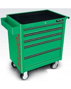 TOPTUL - Инструментална количка 5 чекмеджета, 3 оборудвани