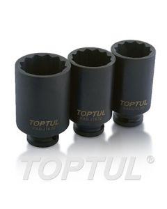 TOPTUL - Вложки, дванадесетостен, ударни, дълбоки